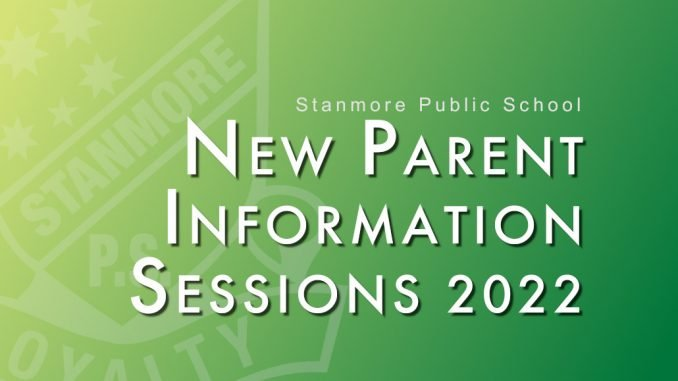 Stanmore Public School New Parent Info Sessions 2022