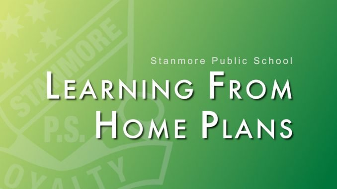 stanmore public school learning from home plans