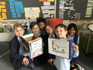 stanmore public school 1A creating Terracycle box to distribute to other classes 2021