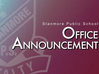 stanmore public school office announcement